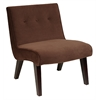 Office Star Curves Valencia Accent Chair in Chocolate Velvet