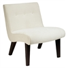 Office Star Curves Valencia Accent Chair in Oyster Velvet
