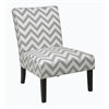 Office Star Victoria Chair in Zig Zag Grey