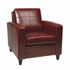 Office Star Venus Club Chair (Tool-Less Assembly) in Crimson Red Eco Leather