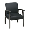 Office Star Deluxe Espresso Finish Guest Chair. Black Triangle Fabric