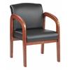 Oak Finish Wood Visitors Chair