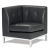 Office Star Wall Street Corner Chair in Espresso Faux Leather