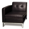 Office Star Wall Street Arm Chair LAF in Espresso Faux Leather