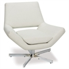 "Office Star Yield 31"" Wide Chair in White Faux Leather"