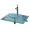 Whitehaus Collection WHCRFS-2T Bath Fixtures Transparent Glass