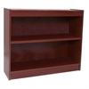 "Contemporary 36""H wood veneer bookcase, Vintage Walnut"