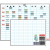 "Magnetic Work Plan Kit - 48"" x 36"" - Porcelain, Aluminum - White"