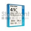 RICOH AFICIO SG3110DN GC41C SD CYAN INK