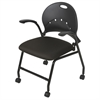 Balt NESTER CHAIR (Black/Black) (2/carton) * (Priced as 2)