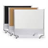 Best-Rite DOC Mobile Room Partition & Display Panel, Porcelain Steel (Both Sides), 6'H x 4'W