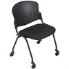 Balt NESTING STACKING CHAIR (Black/Black uplstd seat) (2/carton) * (Priced as 2)
