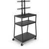 Balt WIDE BODY FLAT PANEL TV CART (Black) w/o cabinet