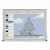 Evolution Projection Surface - matte gray - deluxe aluminum trim - 4x6