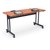 Task Train Training Table 24x72 - Grey Nebula