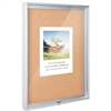 Best-Rite Mfg. Enclosed Bulletin Board - 3x4 - Natural Cork