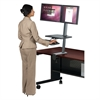 Balt Desk Mounted Sit/Stand Workstation - Dual Monitor