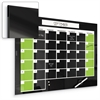 Best-Rite Mfg. Black Magnetic Glass Calendar Board 2x3