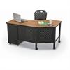 Balt INSTRUCTOR TEACHER'S DESK II - OAK/BLACK ( 90593 + 90129)