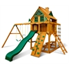 Chateau Treehouse Swing Set w/ Amber Posts