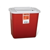 Biohazard Multipurpose Sharps Containers,Red, 1/EA