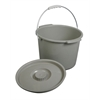 Commode Bucket with Lid &Handle, 6/CS