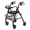 Deluxe Rollators,Burgundy, 1/CS
