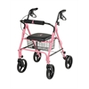 "Rollators with 8"" Wheels,Pink, 1/CS"