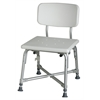 Bariatric Aluminum Bath Bench with Back, 1/CS