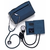 Compli-Mates Dual Head Aneroid Sphygmomanometer Combination Kits,Royal Blue, 1/EA