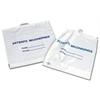 Rigid Handle Plastic Bags,White, 250/CS