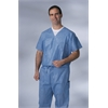 Disposable V-Neck Scrub Top,Blue,M, 30/CS