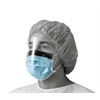 Basic Procedure Face Masks with Shield,Blue, 100/CS