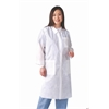 Knit Cuff/Traditional Collar Multi-Layer Lab Coat,White, 30/CS