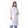 Knit Cuff/Traditional Collar Multi-Layer Lab Coat,White, 30/CS