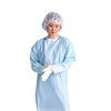 Thumbs Up Polyethylene Isolation Gown,Blue,X-Large, 75/CS