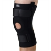 U-Shaped Hinged Knee Supports,Black,4X-Large, 1/EA