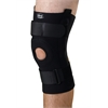 U-Shaped Hinged Knee Supports,Black,X-Large, 1/EA