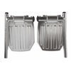 Aluminum Wheelchair Footplate, 2/PR