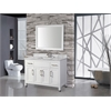 "MTD Vanities Ricca 48"" Single Sink Bathroom Vanity Set, White"