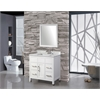 "Ricca 36"" Single Sink Bathroom Vanity Set, White"