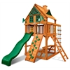 Chateau Treehouse Tower Swing Set w/ Amber Posts