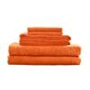 Maxkin Bamboo Fiber 6pc Towel Set Orange