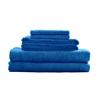 Maxkin Bamboo Fiber 6pc Towel Set Blue