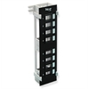 PATCH PANEL, BLANK,VERTICAL,8-PORT FLUSH