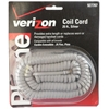 25' Silver Handset Cords - 25 Pack