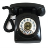 1950 Desk Phone Black