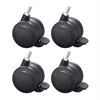 Hard Floor Casters for AlphaBetter® (Set of 4) Black