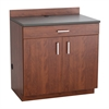 Hospitality Base Cabinet, One Drawer/Two Door Rustic Slate/Mahogany
