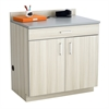 Hospitality Base Cabinet, One Drawer/Two Door Vanilla Stix/Gray